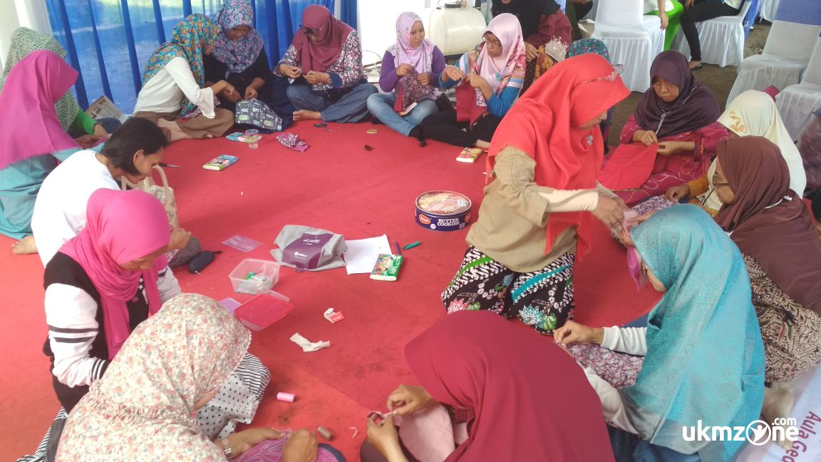 Workshop membuat tissue box di acara PANMAS FAIR 2018