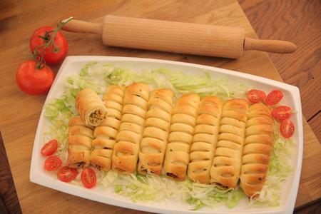 فطائر الدجاج الحلزونية - مطبخ منال العالم