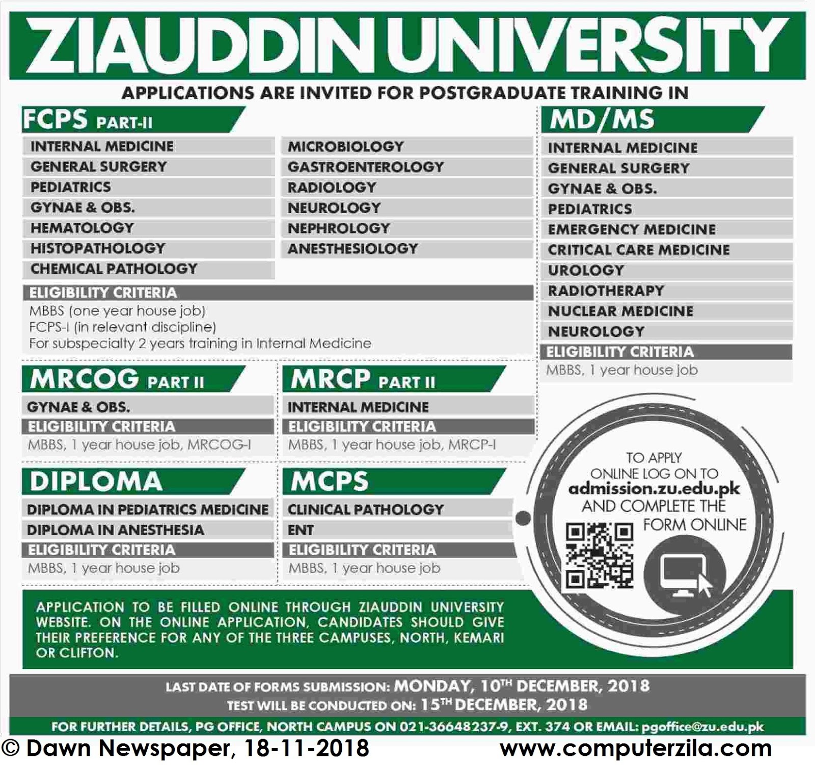 Admissions Open For Fall 2018 At ZU undefined Campus