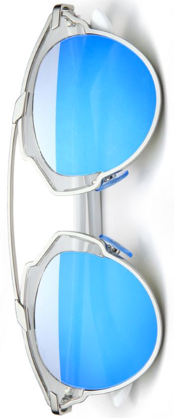 Dior Soreal 48mm Round Mirrored Lens Sunglasses