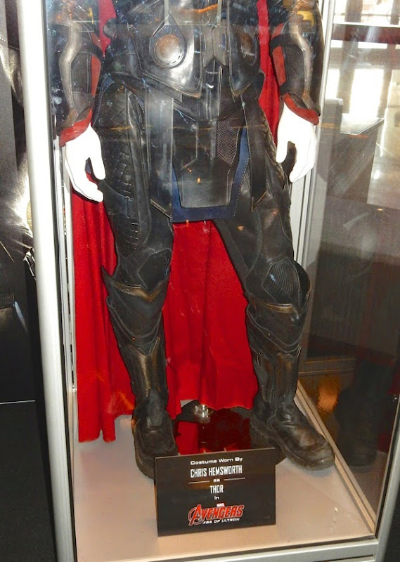 Thor costume legs detail Avengers Age of Ultron
