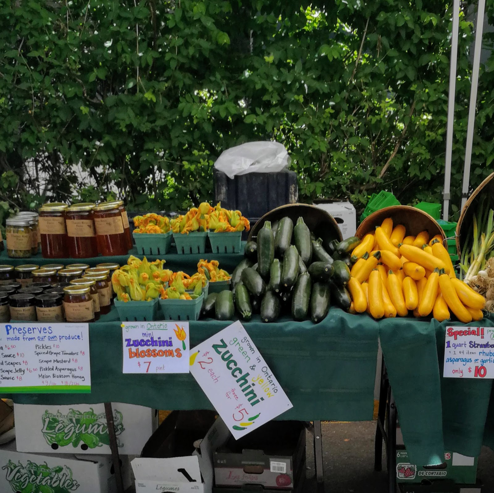 Toronto Farmers Market, fresh vegetables, local vegetables