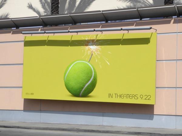 Battle of the Sexes tennis ball teaser billboard