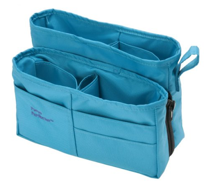 purse organizer, blue