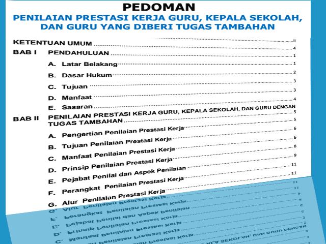 Download Pedoman SKP Untuk Guru, Kepala Sekolah yang di deri tugas Tambahan