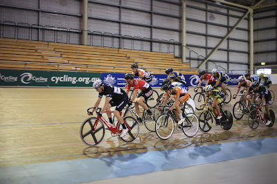 Scratch race at Madison of Melbourne velodrome