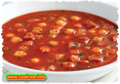 Tomato and chorizo soup