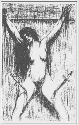 mujeres crucificadas cricified women steinlen serbia