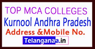 Top MCA Colleges in Kurnool Andhra Pradesh