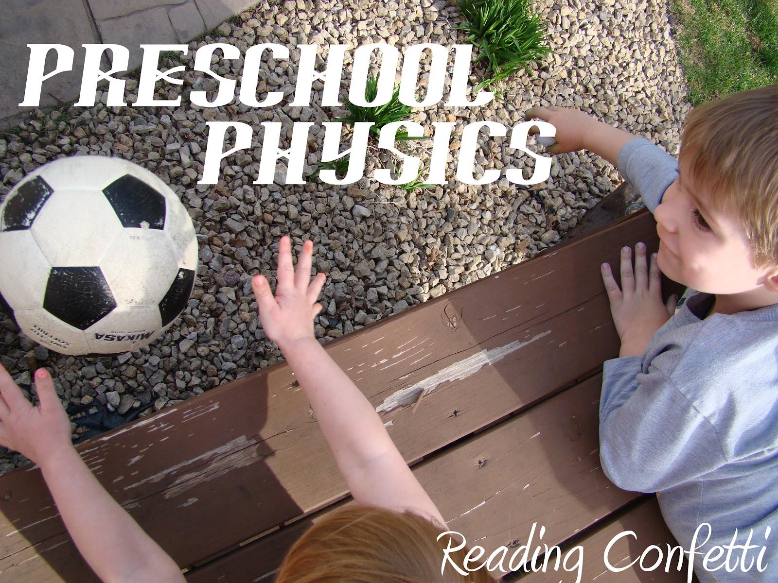 Preschool Physics Amp Having A Ball With Books Reading