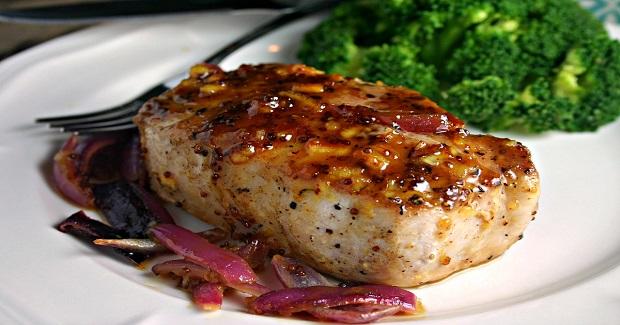 Orange Mustard Glazed Pork Chops Recipe