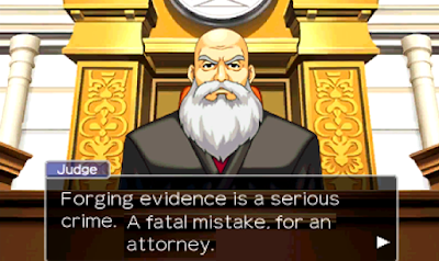 Phoenix Wright Ace Attorney forging evidence Judge Apollo Justice Turnabout Succession 2019 fatal mistake