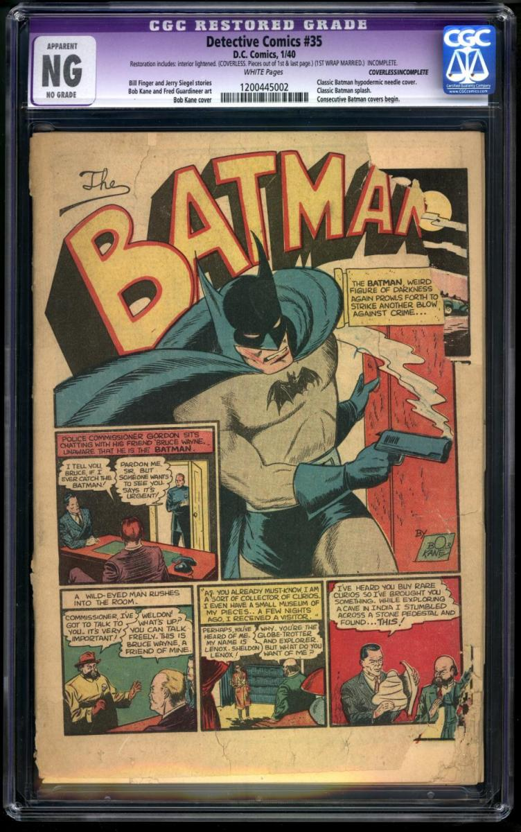 Thats The Actual Splash Page To Detective Comics 35 Which Shows Batman Sporting His Shiny 45 Automatic Im Planning On Giving Him A Pair Of Them