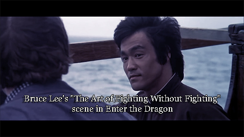 Bruce Lee S The Art Of Fighting Without Fighting Scene In Enter The Dragon Stickgrappler S Sojourn Of Septillion Steps