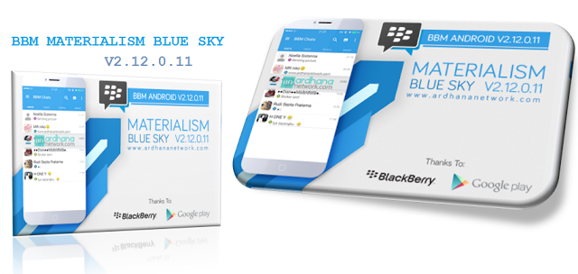 BBM MOD Materialism Blue 2.12.0.11 APK for Android Jelly Bean and Up