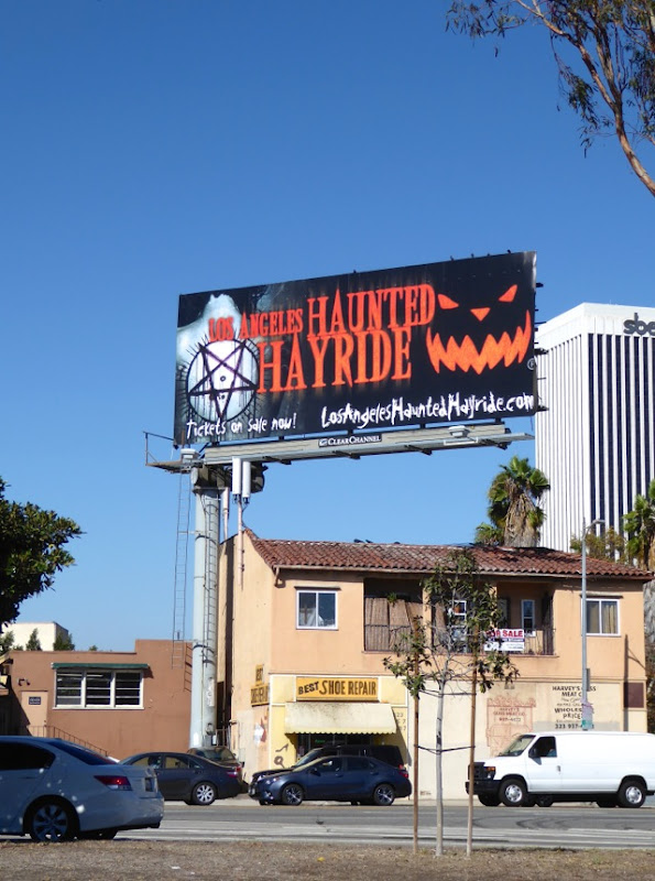 LA Haunted Hayride billboard