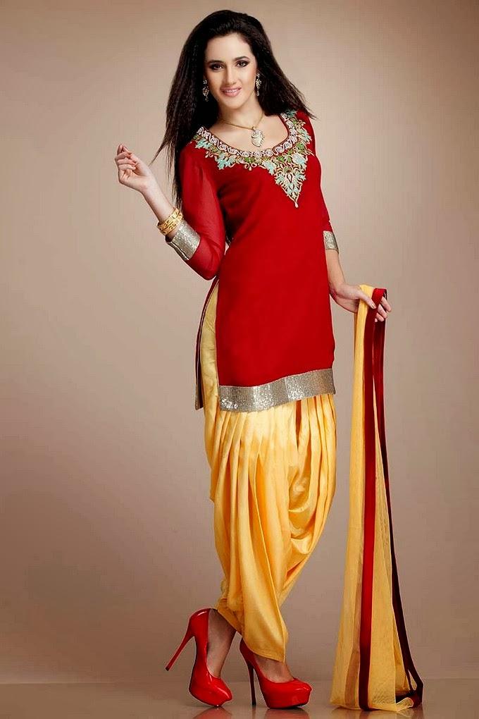 Patiala Salwar Patiala Trouser With Short Kurta For