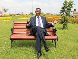 Alfred Mutua seating over the bench waiting for JKL. PHOTO | Courtesy