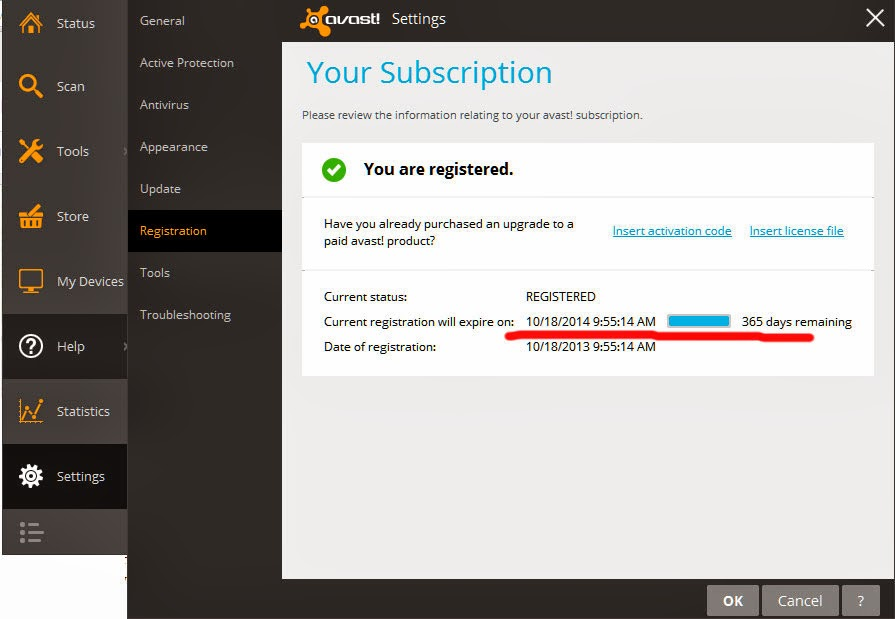 Download Free Antivirus Avast 2014.9.0.2006 with 1 year free License