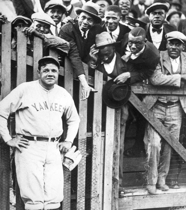 2ab987ef510 The New York Yankees Babe Ruth and Fans