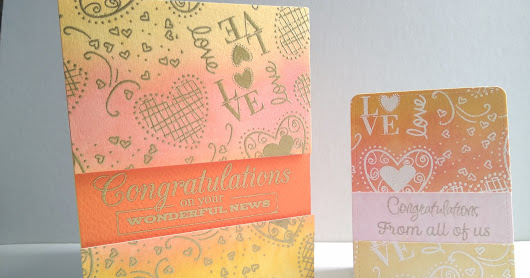 Embossed Background Wedding Card and Tag