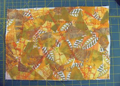 mixed media fabric art finished