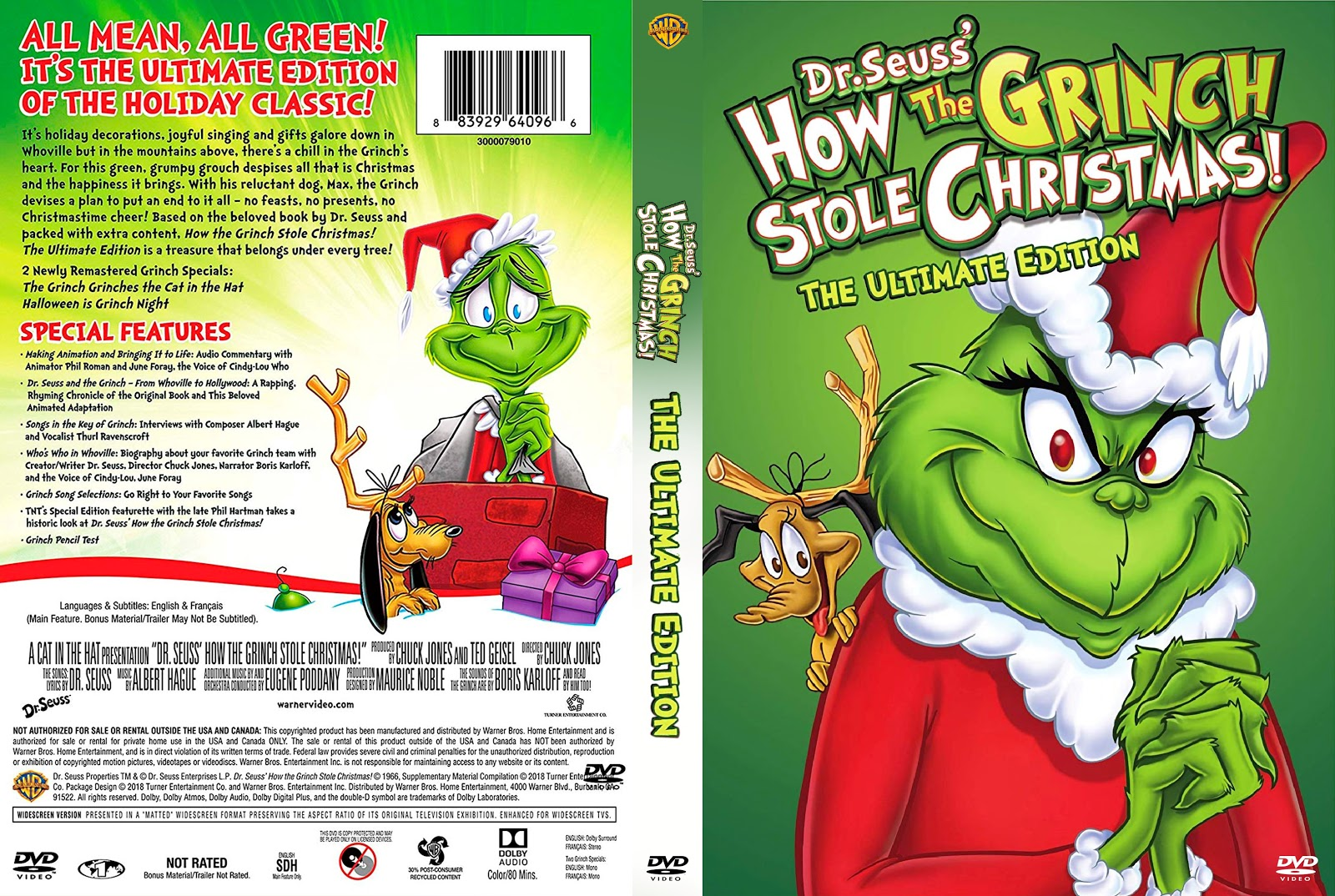 How The Grinch Stole Christmas Movie Poster.How The Grinch Stole Christmas Ultimate Edition Dvd Cover