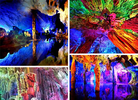 Cavernas mais lindas perigosas - Caverna Reed Flute - China