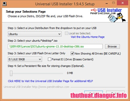 Download Universal USB Installer 1.9.8.3 Full Portable – Tạo bộ cài đặt Linux Ubuntu