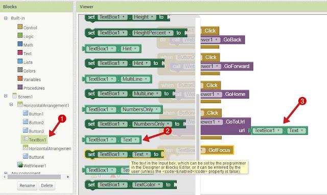 Text Box से Url Webview को दें