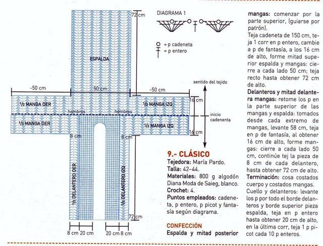 TEJER GANCHILLO CROCHET: 3 MODELOS DE ABRIGOS A CROCHET - gráficos y ...