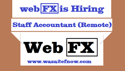 WebFX is hiring a staff accountant with a high salary | waza2efnow