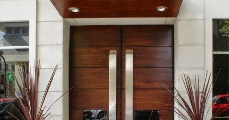 9 desain keren pintu utama bagian depan rumah minimalis modern  Rumahokelinkscom