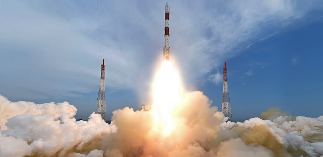 PSLV-C35 liftoff. Photo Credit: ISRO