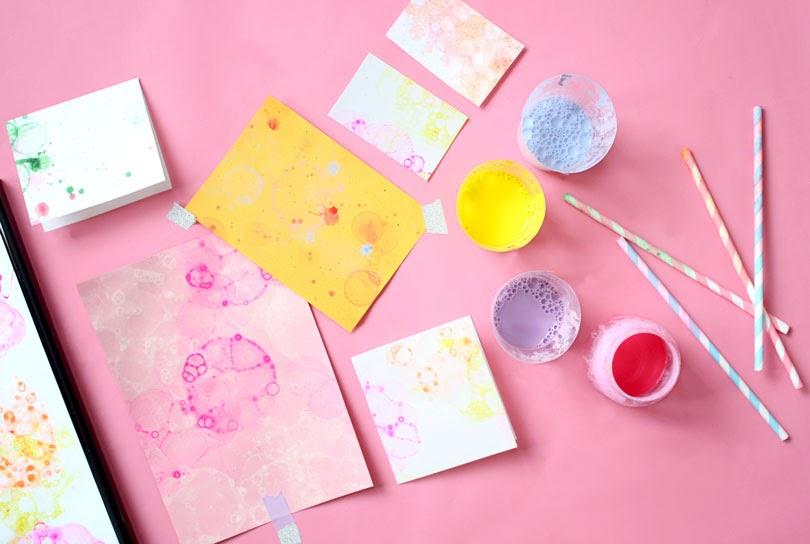 bubble art postcards