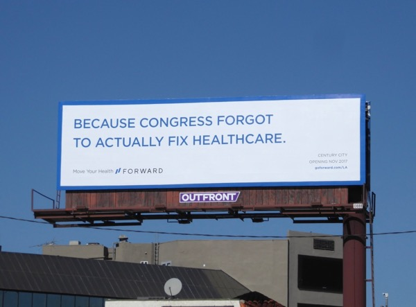 Congress forgot to fix healthcare Forward billboard