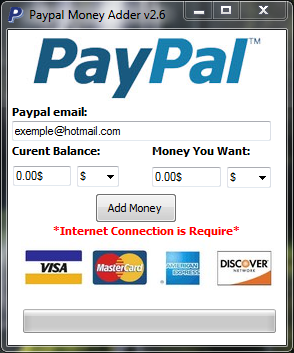Add money instantly to paypal : Percentage chart