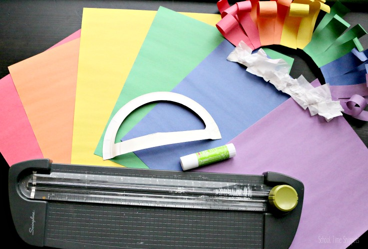 rainbow paper craft supplies