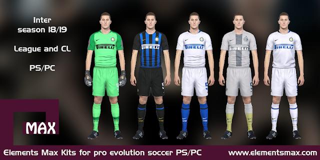 Inter 18/19 pes kits