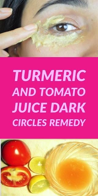 Turmeric and Tomato Juice Dark Circles Remedy