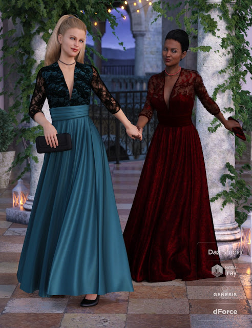 dForce Before Midnight Dress Textures