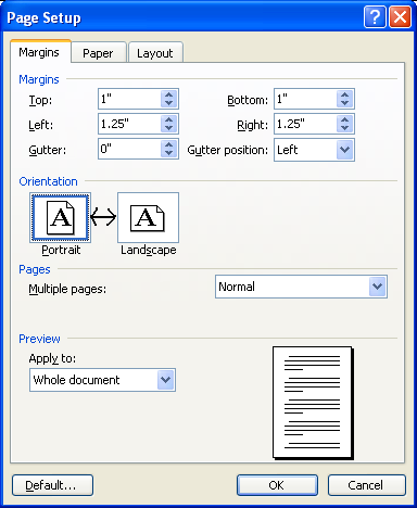 Orientation Of Page In Word 2003 Microsoft Office Support