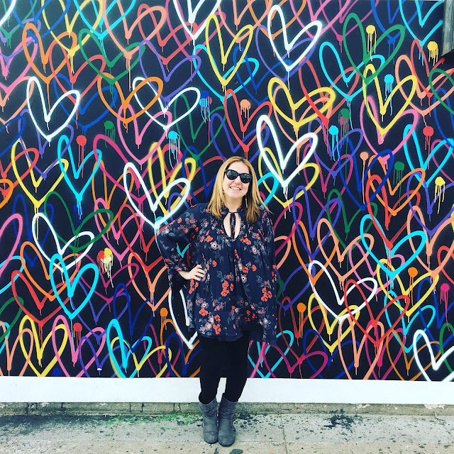 2017, 2018, reflection, Jamie Allison Sanders, Abbot Kinney Boulevard, Venice, Love Wall, street art