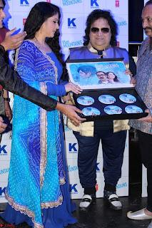 Gracy Singh and Bappi Lahiri   Blue Mountain Music Launch IMG 0732.JPG