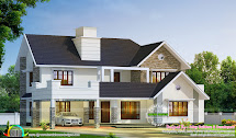 2980 Sq-ft Semi Contemporary With Colonial Style Kerala