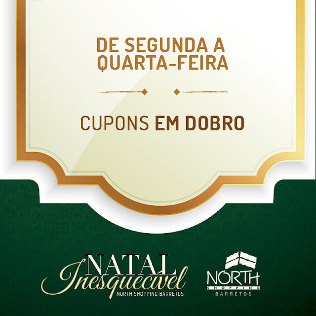 Clientes têm chances em dobro na promoção Natal Inesquecível do North Shopping Barretos