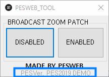 PES 2019 DEMO Broadcast Camera ZOOM Disabler