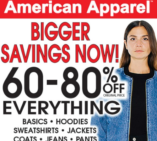 American Apparel Closing All Canadian Stores Prices Slashed