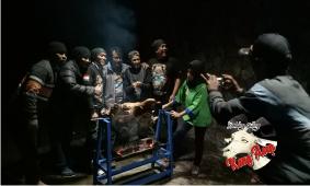 Kambing Guling di tempat camping lembang