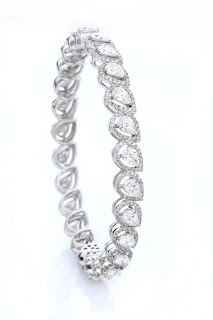 Entice Irresistible_ Pear & round diamond classic bangles-